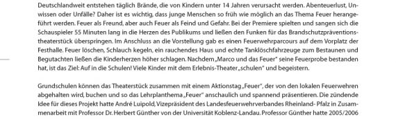 """Neues Brandschutzpräventions-Theaterstück:  """"Marco und das Feuer"""" ab sofort für Schulen in der Pfalz"""